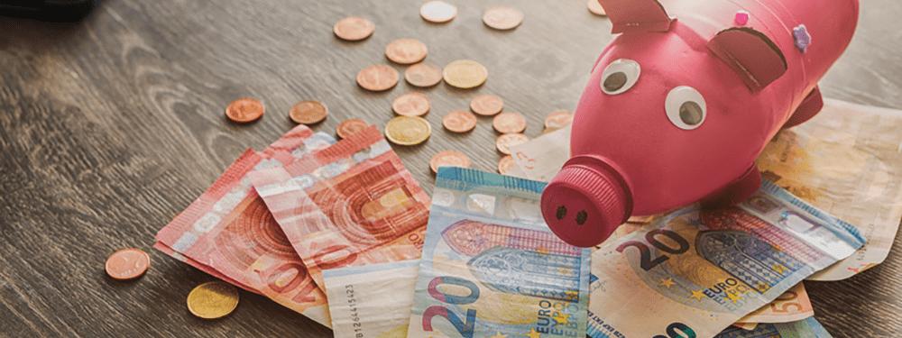 Sparschwein und Bargeld