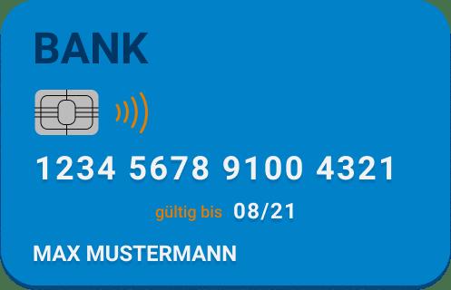 Eine Kreditkarte mit Ablaufdatum