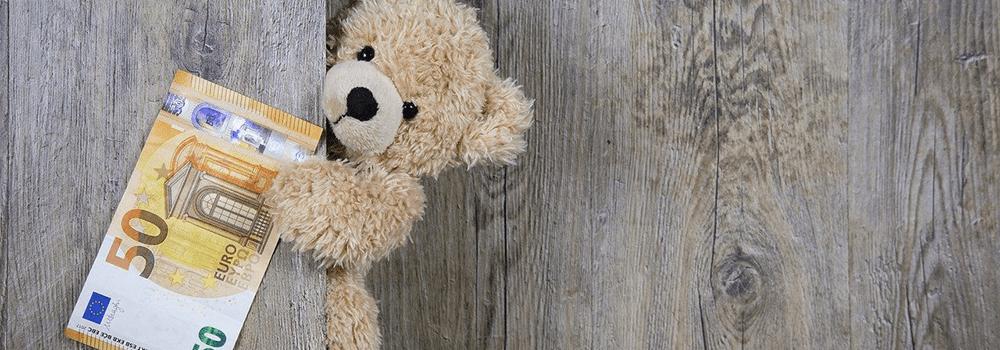 Ein Teddy mit 50 Euro